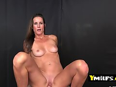 Bombshell milf sucks on horny guy s cock before riding it like a pro