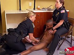 Milf fucking two guys xxx Black Male squatting in home gets our milf officers squatting - Maggie Green