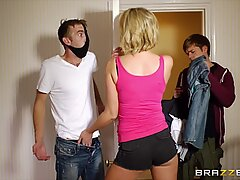 Dirty mom Leigh Darby fucks her sons best friend