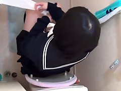 Japanese teen pees on bed