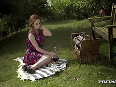 Posh Cutie Ella Hughes Takes A Big Cock To Her Pussy