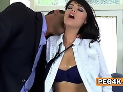 Milf with big tits screwing young dude