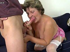 Granny fucks boy
