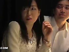 Japanese cutie is mind controlled, strips and starts masturbating in public