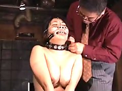 Jap BBW slave got needles pierced lip to keep her mouth shut