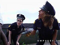 Two female cops arrest big cock black